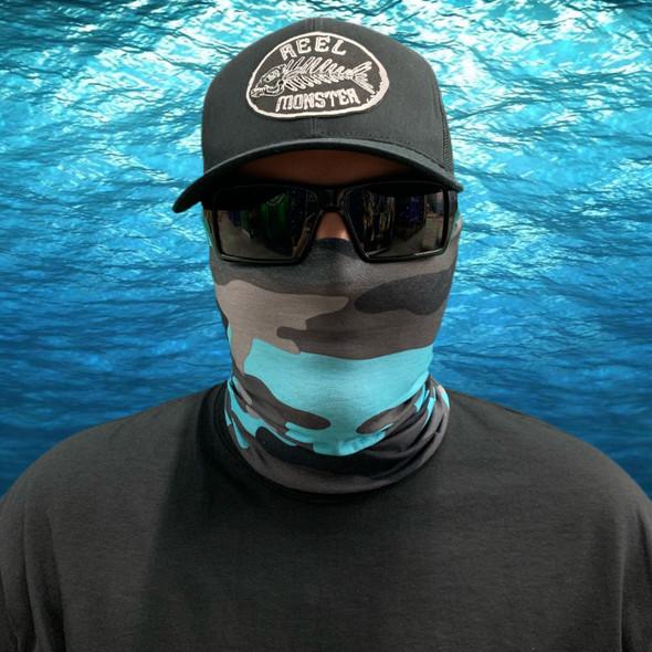 Teal Camo Face Masks FS-40