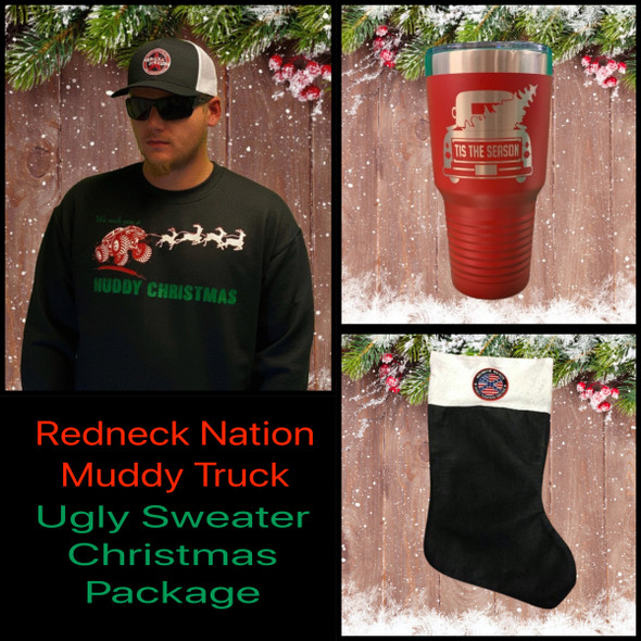 **Muddy Truck** Ugly Sweater Christmas Value Package