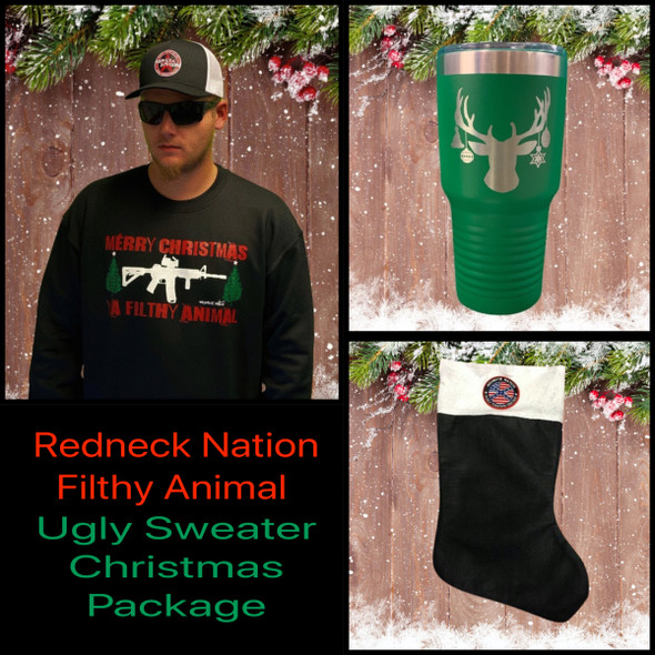 **Filthy Animal** Ugly Sweater Christmas Value Package