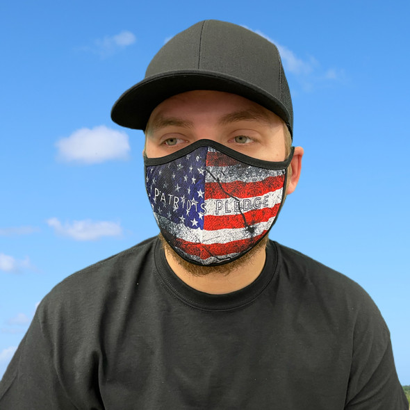 Patriot Pledge American Flag Rona Mask