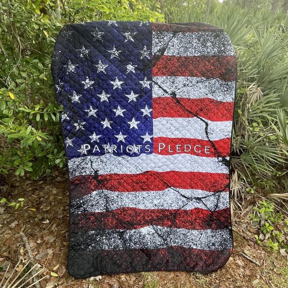 American Flag Patriots Pledge Blanket