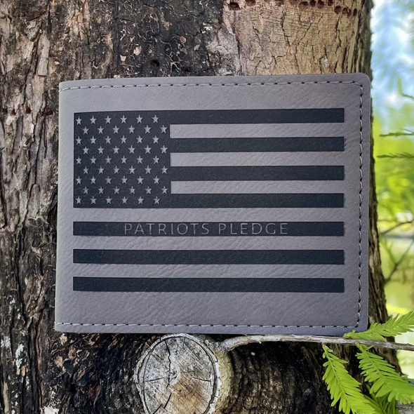 Patriots Pledge American Flag Bi-fold wallet