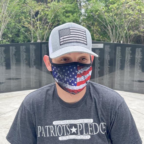 Patriots Pledge American Flag Face Masks