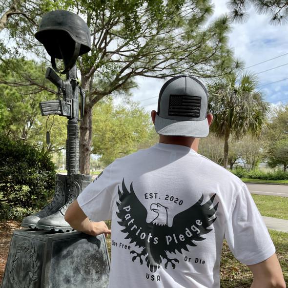 Patriots Pledge© Live Free Charcoal Eagle