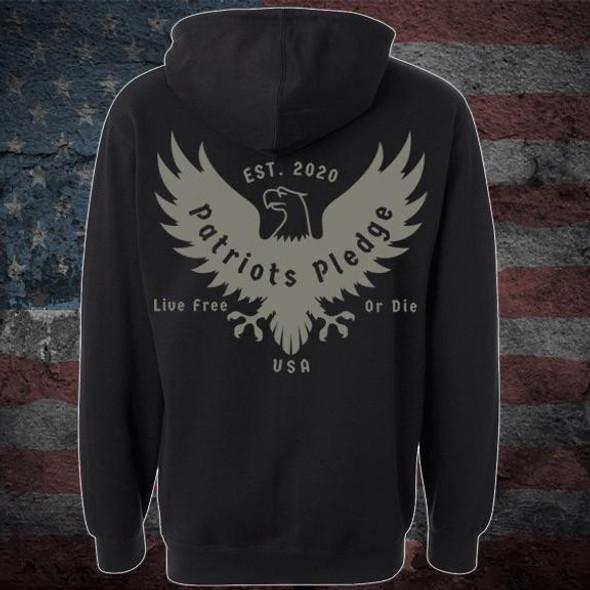 Patriots Pledge© Live free Eagle Hoodie PPPL