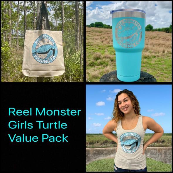**Reel Monster© Girls Turtle Value Pack**