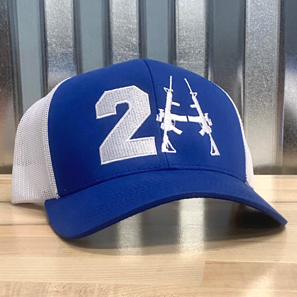 2A Blue/White Stitched Hat