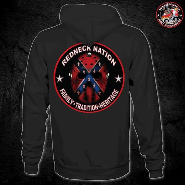 Redneck Nation Jason Mask Hoodie