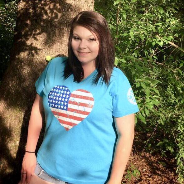Redneck Nation© American Flag Heart RNGS-30V3587