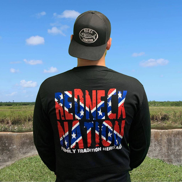 Redneck Nation© Confederate Flag Long Sleeve RNSS-LS1