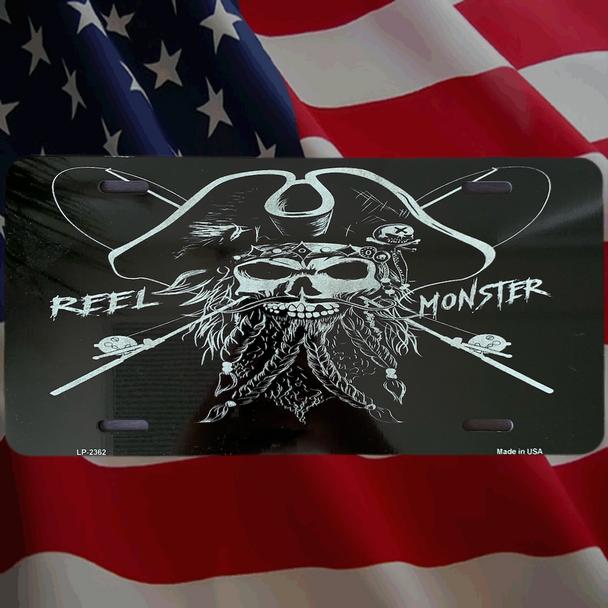 Captain Jack Reel Monster© Metal License Plate 10 Color choices MLP-1
