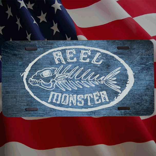 Reel Monster© Metal License Plate 10 Color choices MLP-1