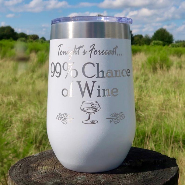 **NEW** 99% Chance of Wine 16oz Wine Goblet MMWG-09