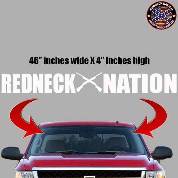 Redneck Nation Block Windshield RNFW-9