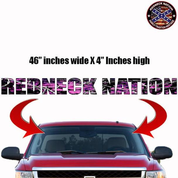 Redneck Nation Muddy Girl Windshield RNFW-4