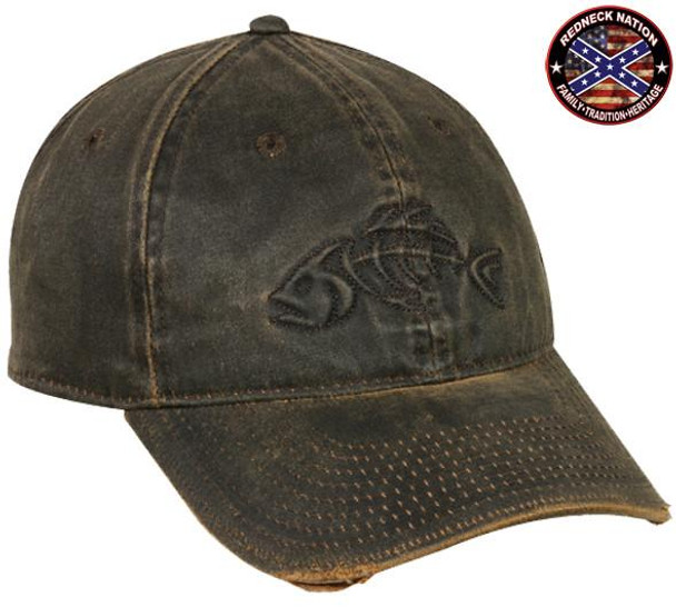 Redneck Nation© Dark Brown Fishing hat-13