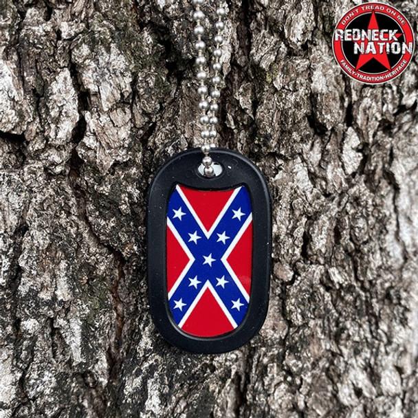 Confederate Dog Tag + FREE Chain + Silencer