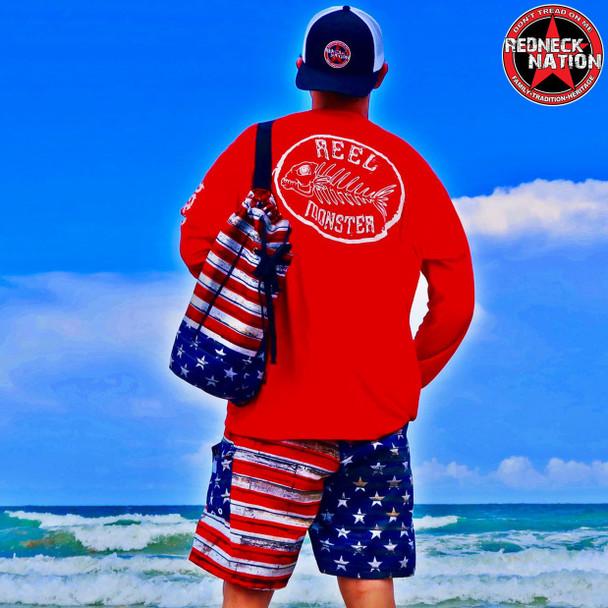Redneck Nation© American Flag Sling Duffle Bag