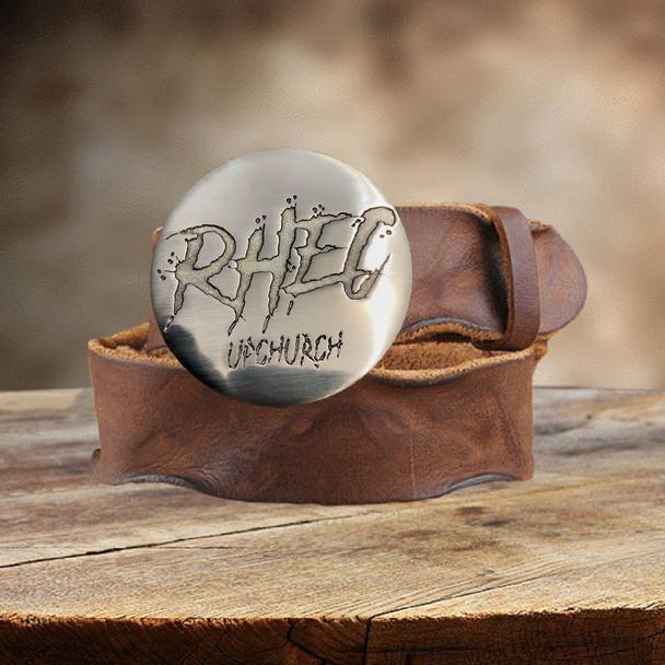 Upchurch© RHEC© Custom logo Belt Buckle