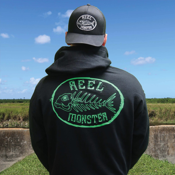 Reel Monster Green Hoodie