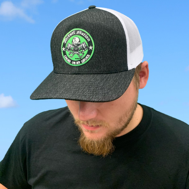 Diesel Nation Charcoal and White Hat
