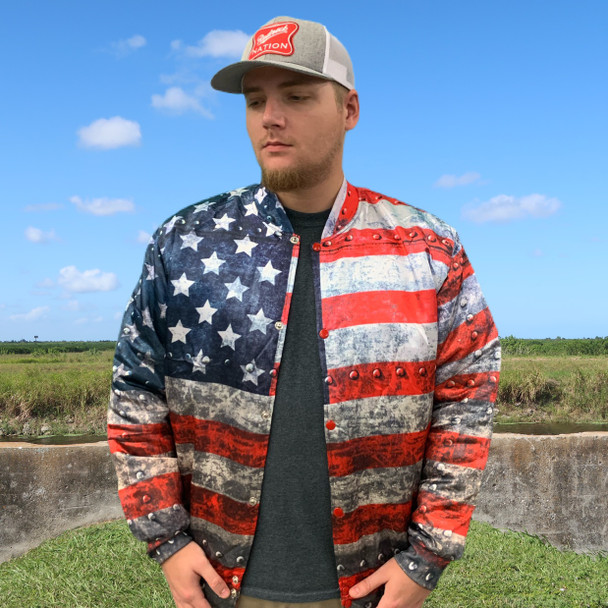 Redneck Nation© American Steel Bomber Jacket