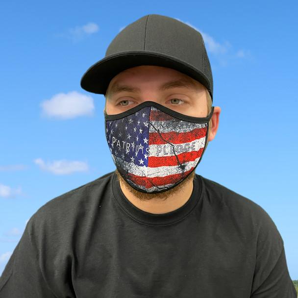 Patriot Pledge American Flag Rona Mask