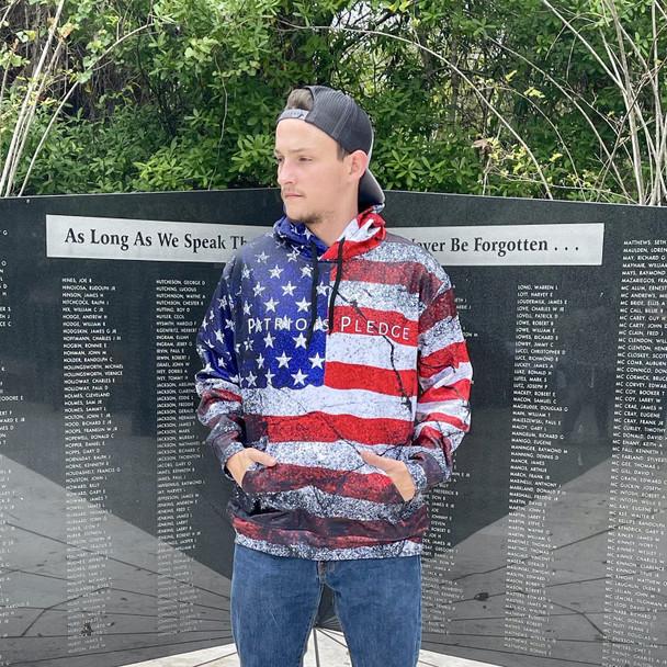 Patriots Pledge American Flag Hoodie