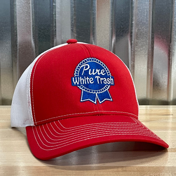 Redneck Nation© Pure White Trash Embroidered Hat