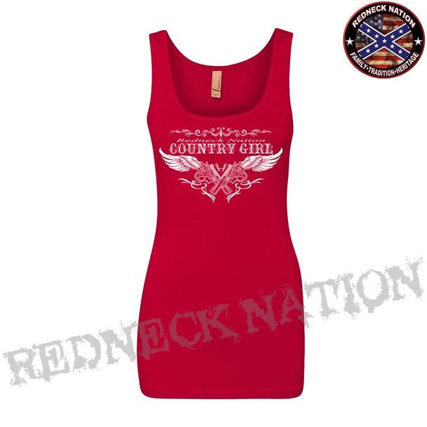 Redneck Nation Girls White Ink Tank RNGS-4