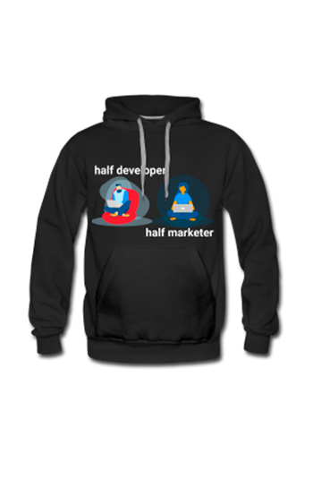 Picture of Half Developer, Half Marketer Hoodie