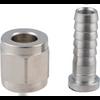 """Swivel Nut & Stem - 1/4"""" barb, 1/4"""" FFL, Yeast, Brewing Malt"""