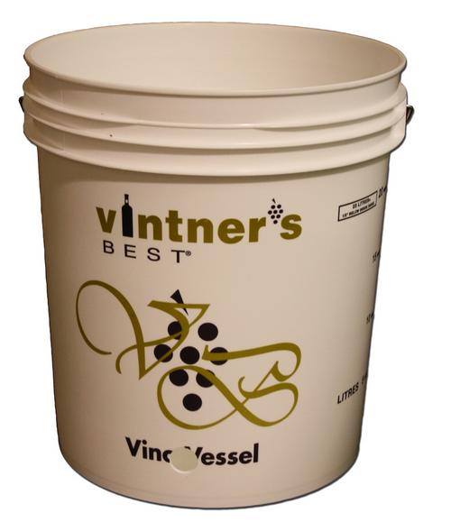 """Wine Bottling Bucket W/ 1"""" Hole - 7.9 Gallon, Yeast, Brewing Malt"""
