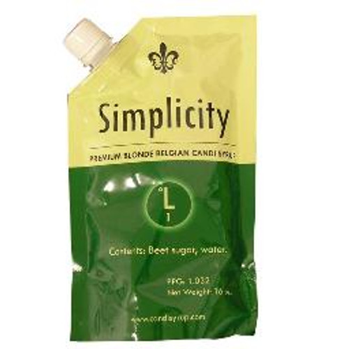 Simplicity Belgian Candi Syrup 0 Lonibond 1 Lb pouch, Yeast, Brewing Malt