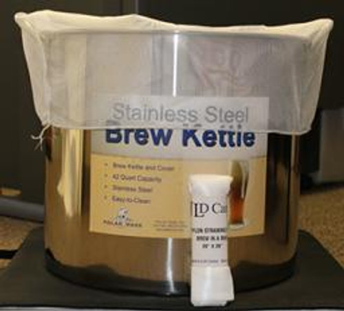 "Straining Brew-in-a-Bag 24""x26"" - W/ Handles, Yeast, Brewing Malt"