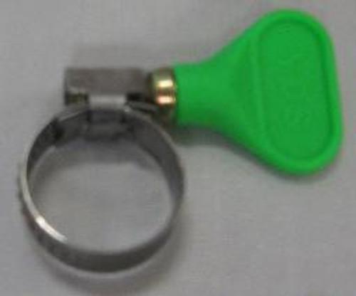 Green ¾ inch Easy Turn Hose Clamp, Yeast, Brewing Malt