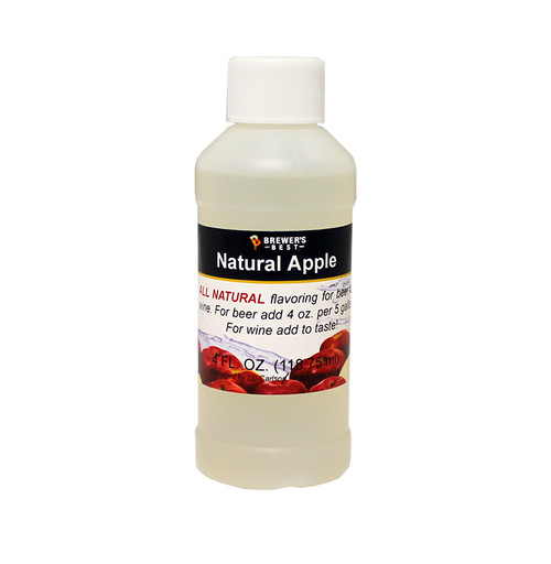 Natural Apple Flavoring Extract - 4 Oz., Yeast, Brewing Malt