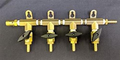 Gas Manifold Modular- 4 Way, Yeast, Brewing Malt