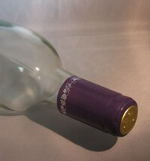 Purple w/Silver Grapes PVC Shrink Capsule - 30 count, Yeast, Brewing Malt