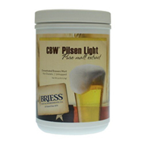 Briess Pilsen Light Liquid Malt Extract Canister 3.3 LB, Yeast, Brewing Malt