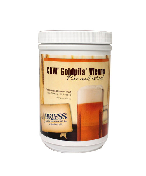 Briess Goldpils Vienna Liquid Malt Extract Canister 3.3 LB, Yeast, Brewing Malt
