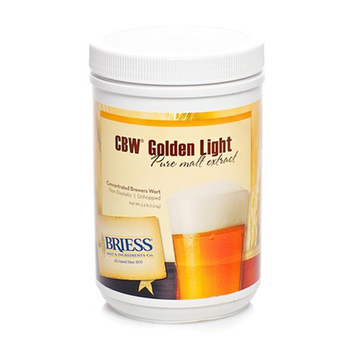 Briess Golden Light Liquid Malt Extract Canister 3.3 LB, Yeast, Brewing Malt
