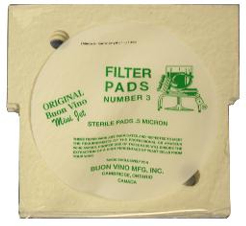 Filter Pads - Mini Jet #3, Yeast, Brewing Malt
