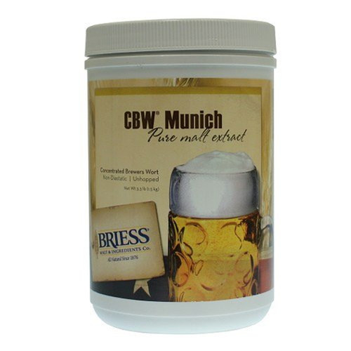 Briess Munich Light Malt Extract Canister 3.3 LB, Yeast, Brewing Malt