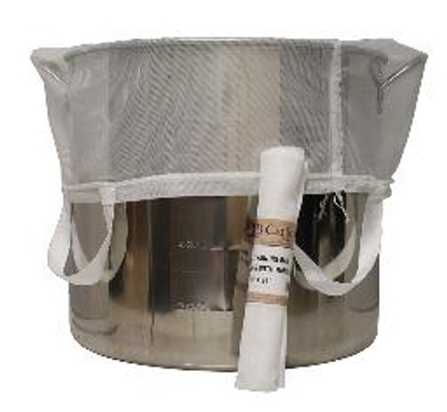 Mesh Grain Bag BIAB with Handles, Yeast, Brewing Malt
