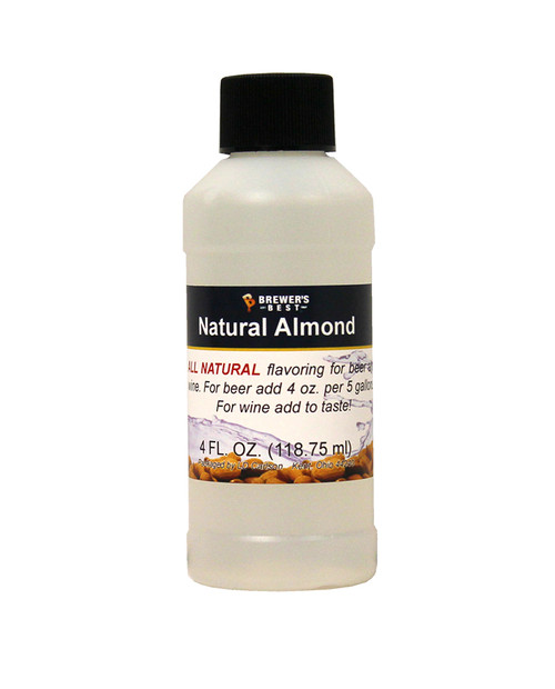 Natural Almond Flavoring Extract - 4 Oz., Yeast, Brewing Malt