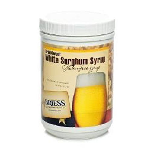 Briess White Sorghum Syrup Liquid Malt Extract Canister 3.3 LB, Yeast, Brewing Malt