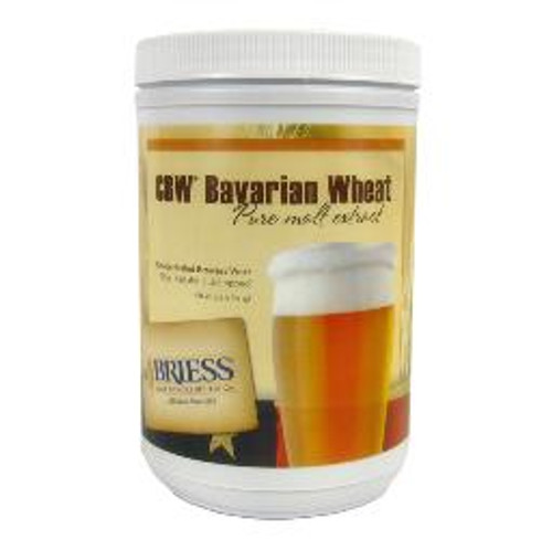 Briess Bavarian Wheat Liquid Malt Extract Canister 3.3 LB, Yeast, Brewing Malt