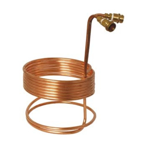 """Fermentap Immersion Wort Chiller 25' x 3/8"""" with Fittings, Yeast, Brewing Malt"""