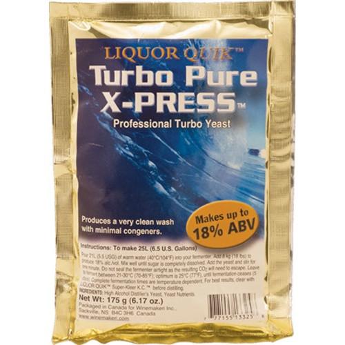 Liquor Quik Turbo Pure X-Press Yeast - 175 grams, Yeast, Brewing Malt